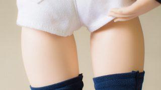 ショートパンツを履いたドルフィードリのお尻付近を後ろから写した写真