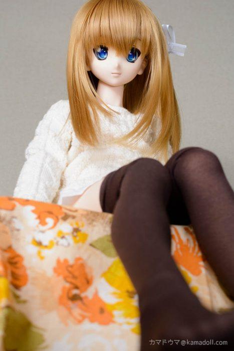 ドルフィードリームDDH-06カスタム子が座っている様子をローアングルから撮った写真